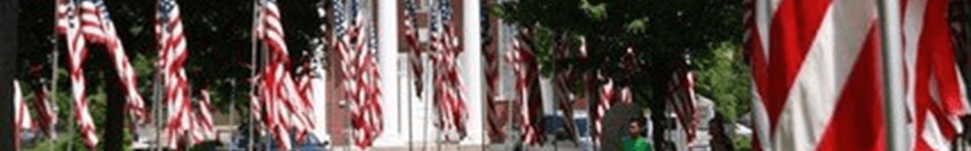 aisle of flags